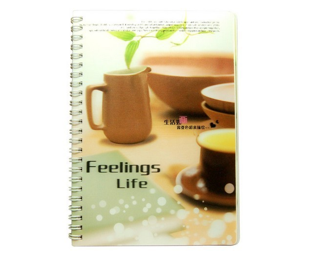 PLASTIC LENTICULAR custom PP Cover 3D Lenticular Notebook made in China